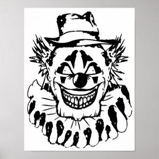 Schlechter beängstigender Clown Halloween Poster