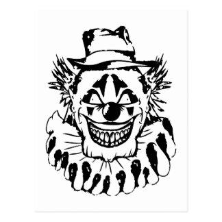 Schlechter beängstigender Clown Halloween Postkarte