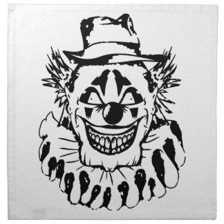 Schlechter beängstigender Clown Halloween Stoffserviette