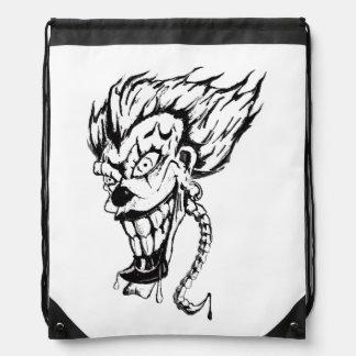 Schlechter Clown Drawstring-Rucksack Turnbeutel