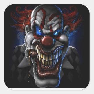 Schlechter Clown und Zigarre Quadratischer Aufkleber