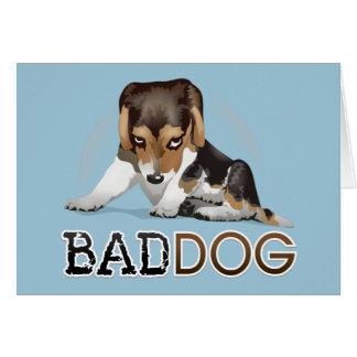 Schlechter Hund, lustige Hundegruß-Karte Grußkarte