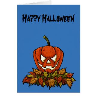 schlechter lächelnder Halloween-Kürbis Karte