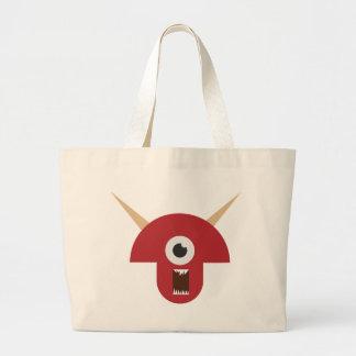 Schlechter Monster-Kopf Jumbo Stoffbeutel
