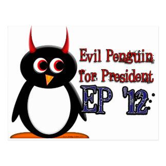 Schlechter Pinguin für Präsidenten 2012 Postkarte