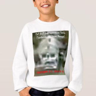 Schlechter Schädel erschien im sandigen Schaden Sweatshirt