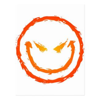 Schlechter Smiley Postkarte