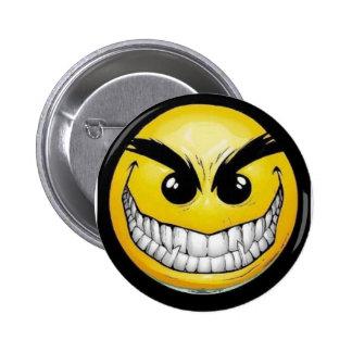 Schlechter Smiley Runder Button 5,1 Cm