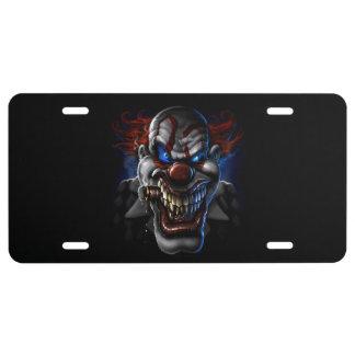 Schlechtes Clown-Gesicht 1 US Nummernschild