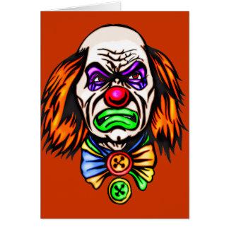 Schlechtes Clown-Gesicht Karte