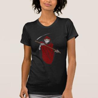 Schlechtes grimmiges Sensenmann-Skelett T-Shirt