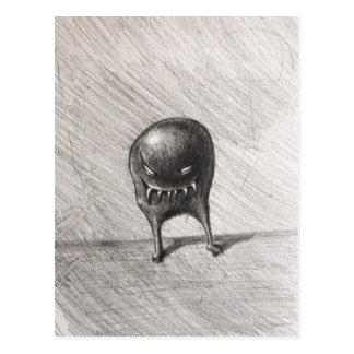 Schlechtes grinsendes Sphäroid-Monster Postkarte