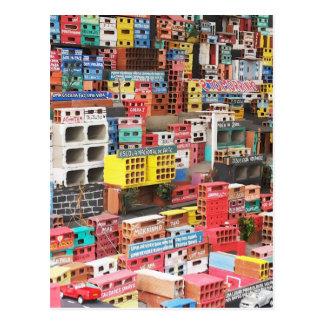 Schlechtes Haus Postkarte