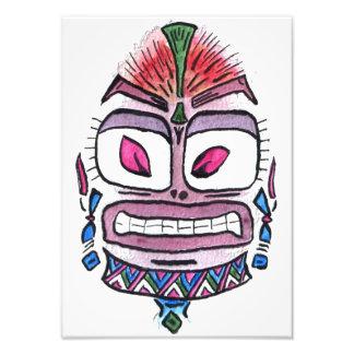 Schlechtes Idol - Stammes- Aquarellkarikatur Kunst Fotos