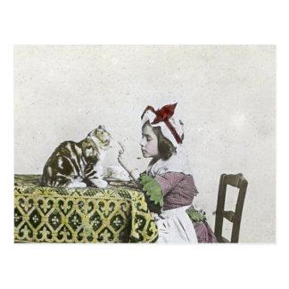 Schlechtes Kitty-viktorianisches Postkarte