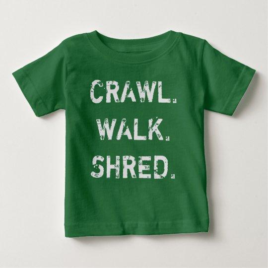 Schleichen, Weg, Fetzen-Baby-T - Shirt
