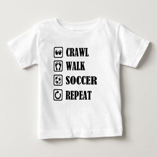 Schleichenweg-Fußballwiederholung Baby T-shirt