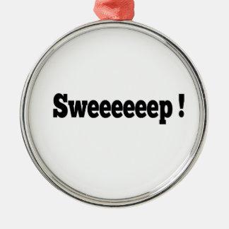 Schleife! Kräuselnverzierung Silbernes Ornament