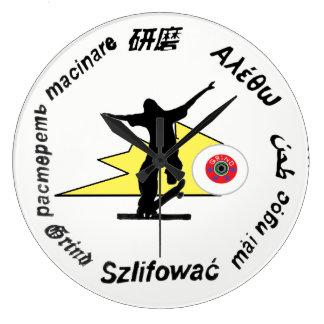 Schleifen Skateboard-Kleidungs-Sportlogo Große Wanduhr