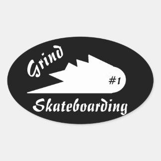 Schleifen Skateboard-Kleidungs-Sportlogo Ovaler Aufkleber