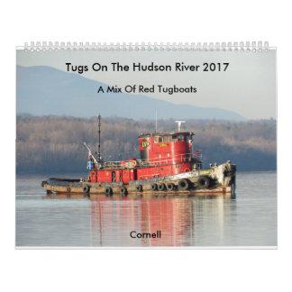 Schlepper auf dem Hudson 2017 Abreißkalender