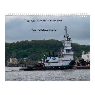 Schlepper auf dem Hudson---Kirby in Küstennähe Wandkalender