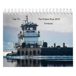 Schlepper auf den der HudsonTowboats 2018 Wandkalender
