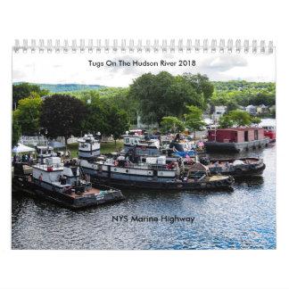 Schlepper auf der Marinelandstraße des Hudsons Abreißkalender
