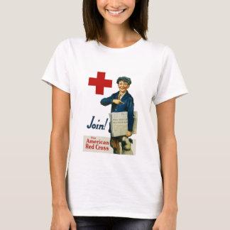 Schließen Sie sich dem amerikanischen roten Kreuz T-Shirt