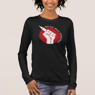 Schließen Sie sich der visuellen Revolution an Langarm T-Shirt