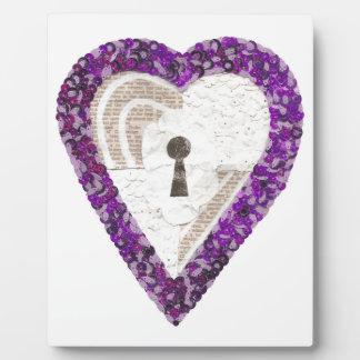 Schließfach-Herz auf einem Gestell Fotoplatte