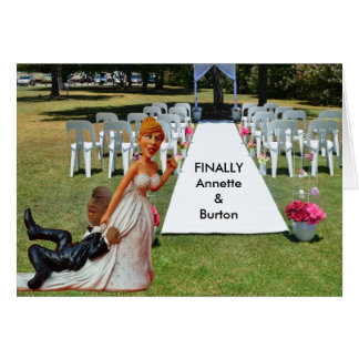 Schließlich Wedding lustige zwischen verschiedenen Grußkarte