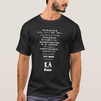 """""""Schließt nicht"""" den schwarzen T - Shirt der LA"""