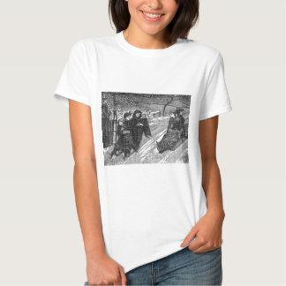 Schlitten-Rennen-viktorianische Hemd