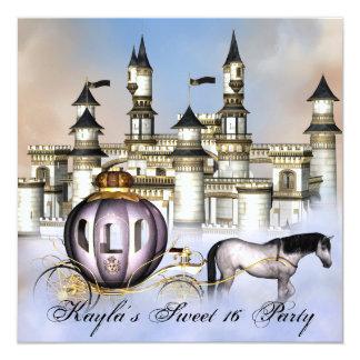 Schloss bewölkt Party Prinzessin-Fairytale Sweet Einladungskarte
