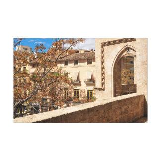 Schloss in Valencia, Spanien Leinwanddruck