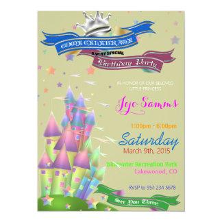 Schloss-Kindergeburtstag-Party Einladung