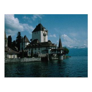 Schloss Oberhofen, See Thun, die Schweiz Postkarte