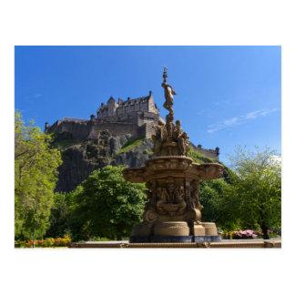 Schloss von Edinburgh-Postkarte Postkarte