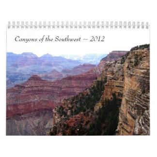 Schluchten des Südwesten~ 2012 Kalender