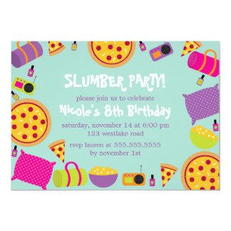 Schlummer-Party-Kindergeburtstag Karte