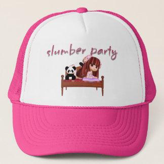 Schlummer-Partyhut, mit niedlichem kleinem Mädchen Truckerkappe