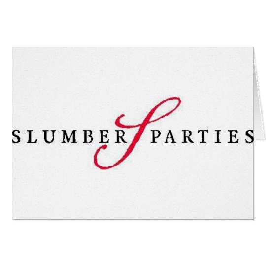 Schlummer-Partys-Logo-fördernde Partys Karte