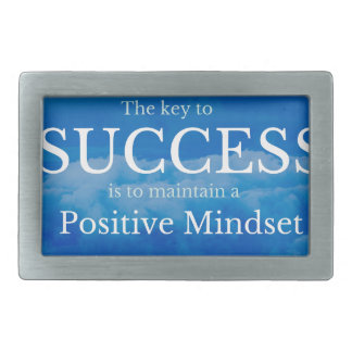 Schlüssel zum Erfolgs-inspirierend Zitat Rechteckige Gürtelschnallen