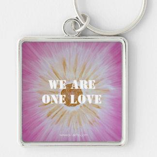 """Schlüsselanhänger """"We are one love"""""""