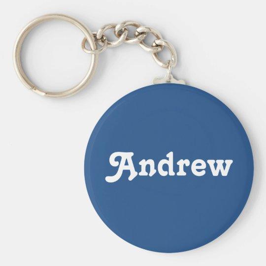 Schlüsselkette Andrew Standard Runder Schlüsselanhänger