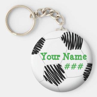 Schlüsselkette des personalisierten Fußballs Schlüsselanhänger