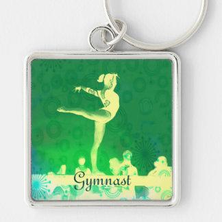 Schlüsselkette des schönen Gymnast Schlüsselanhänger