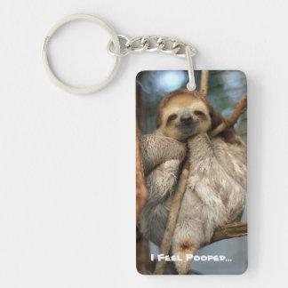 Schlüsselkette mit Baby Sloth, der glaubt, kackte… Schlüsselanhänger