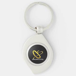 Schlüsselkette OSs mit Absicht Silberfarbener Wirbel Schlüsselanhänger